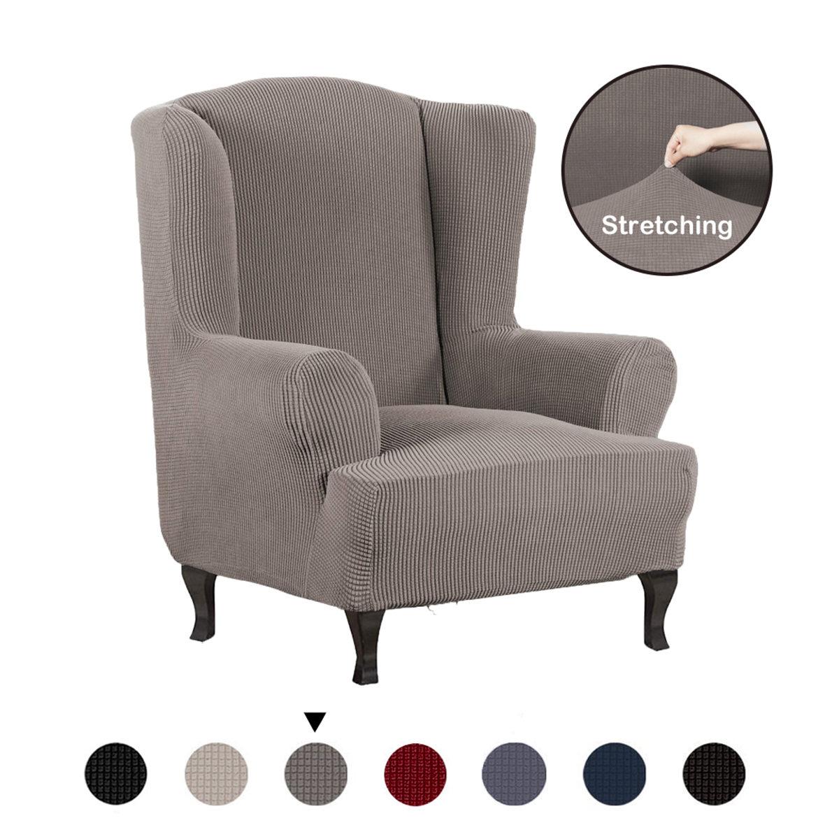 Stretch Recliner Chair Cover Wingback Chair Wing Back Covers Armchair Slipcover Ebay