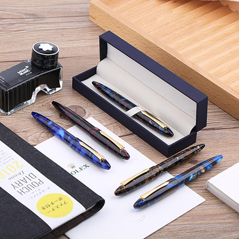 2019 Fabulous Moonman M100 Acrylic Fountain Pen Iridium Fine Nib Pen with box