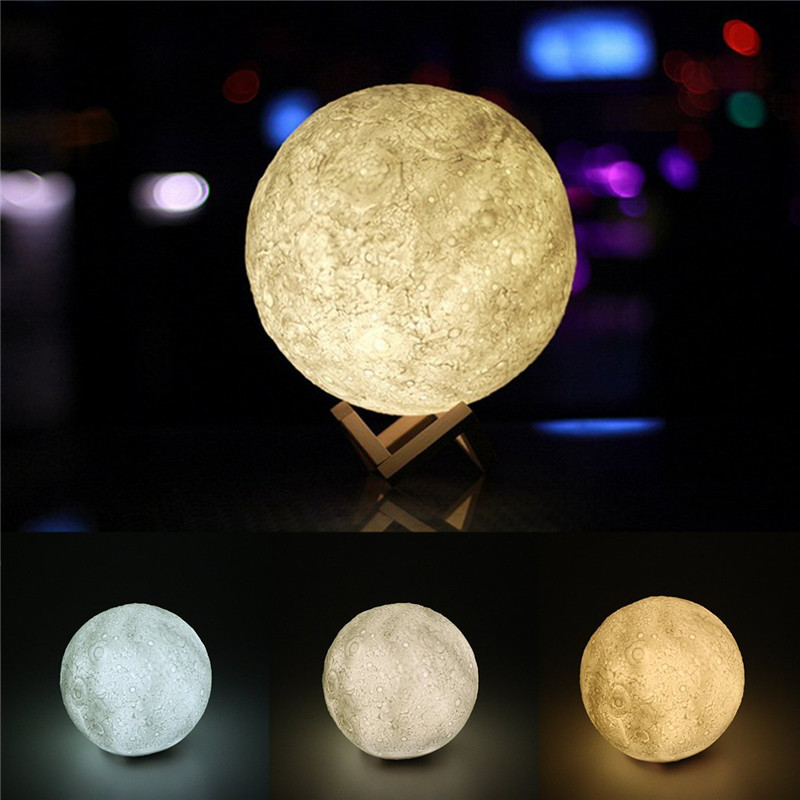 3d moon lamp usb color changing led night light moonlight for Moonlight led