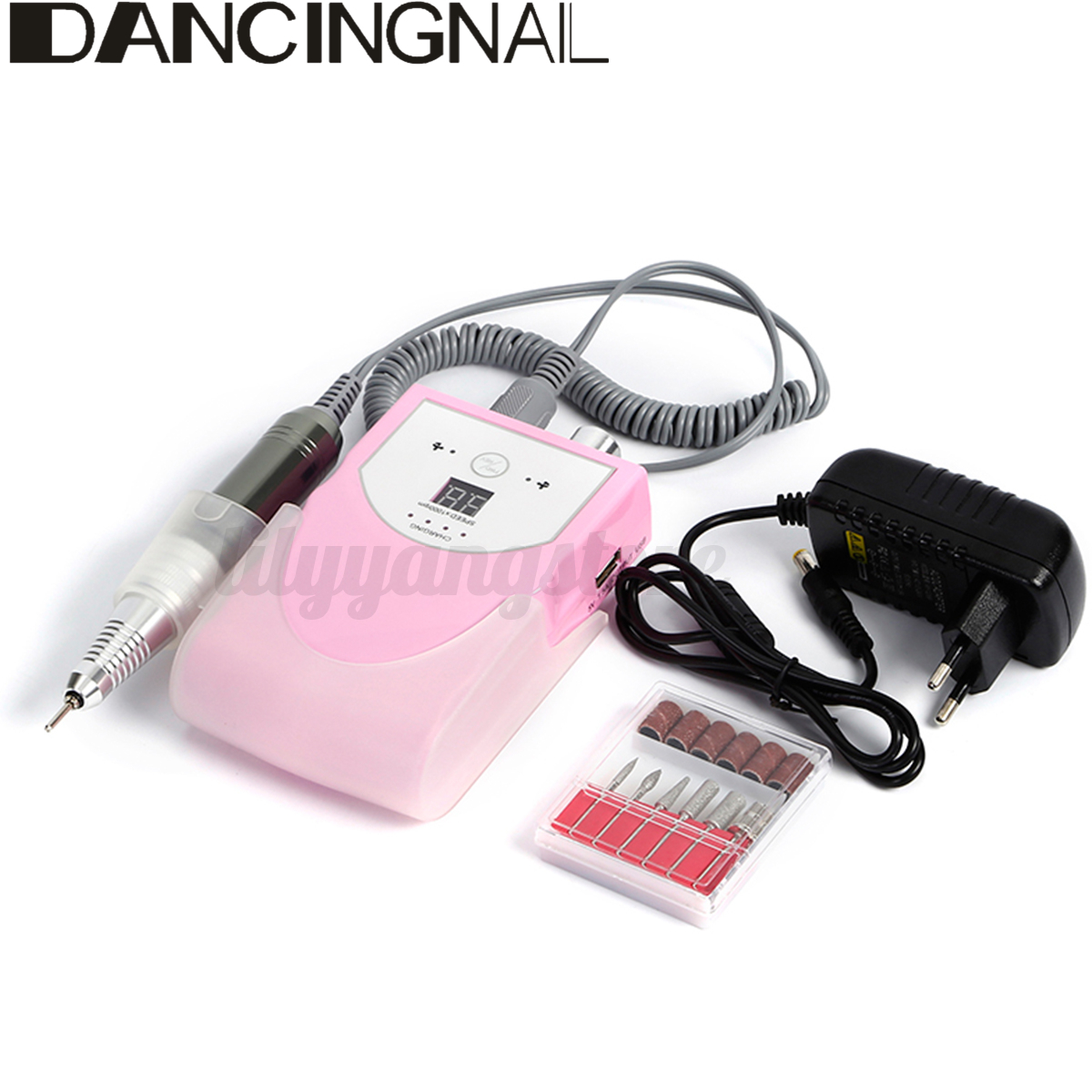 30000rpm LCD Rechargeable Electric Rotary Nail File Drill Machine ...