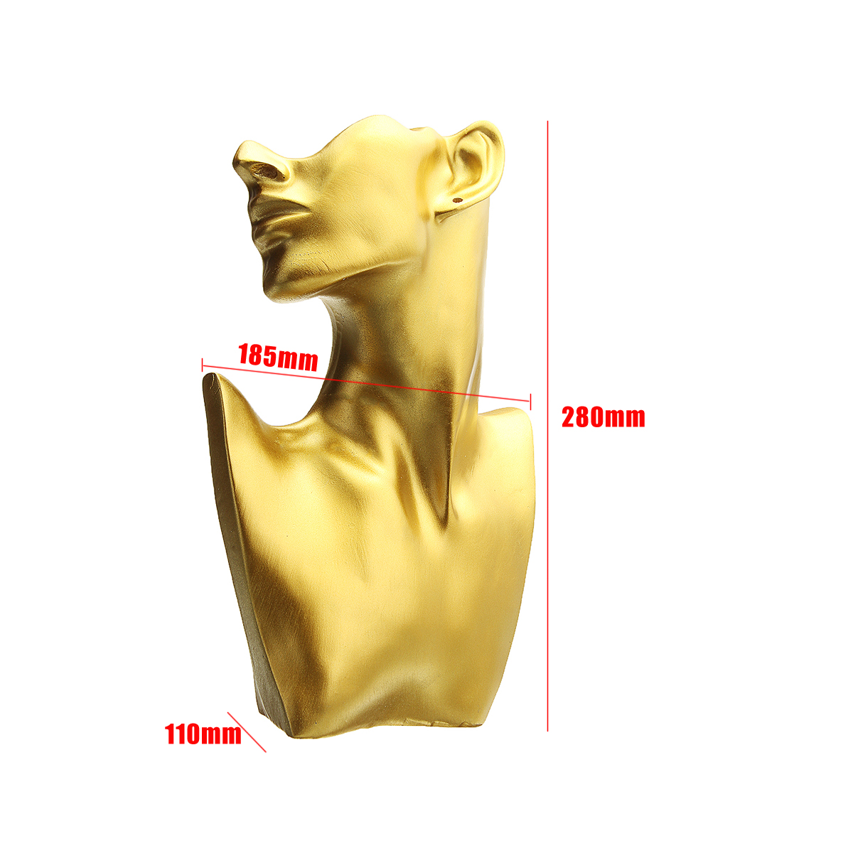 Resin-Mannequin-Necklace-Earring-Jewelry-Display-Head-Bust-Stand-Holder thumbnail 12