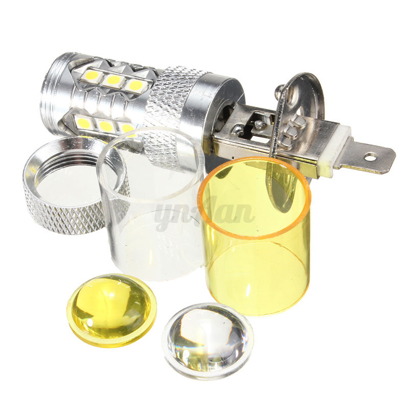 H1-H3-H4-H7-H11-H8-9005-9006-LED-2323-SMD-60W-Nebelscheinwerfer-Lampe-Birne-Gelb