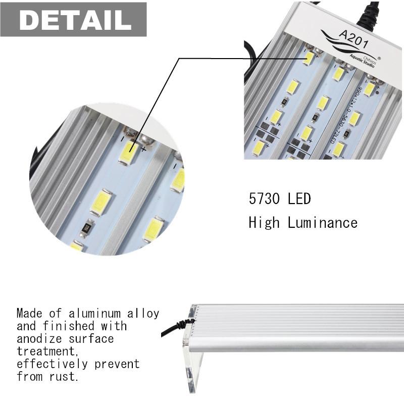 5730 led aquarium beleuchtung aufsatzleuchte 12 15 18 21 24 27 33 39w 20 80cm ebay. Black Bedroom Furniture Sets. Home Design Ideas