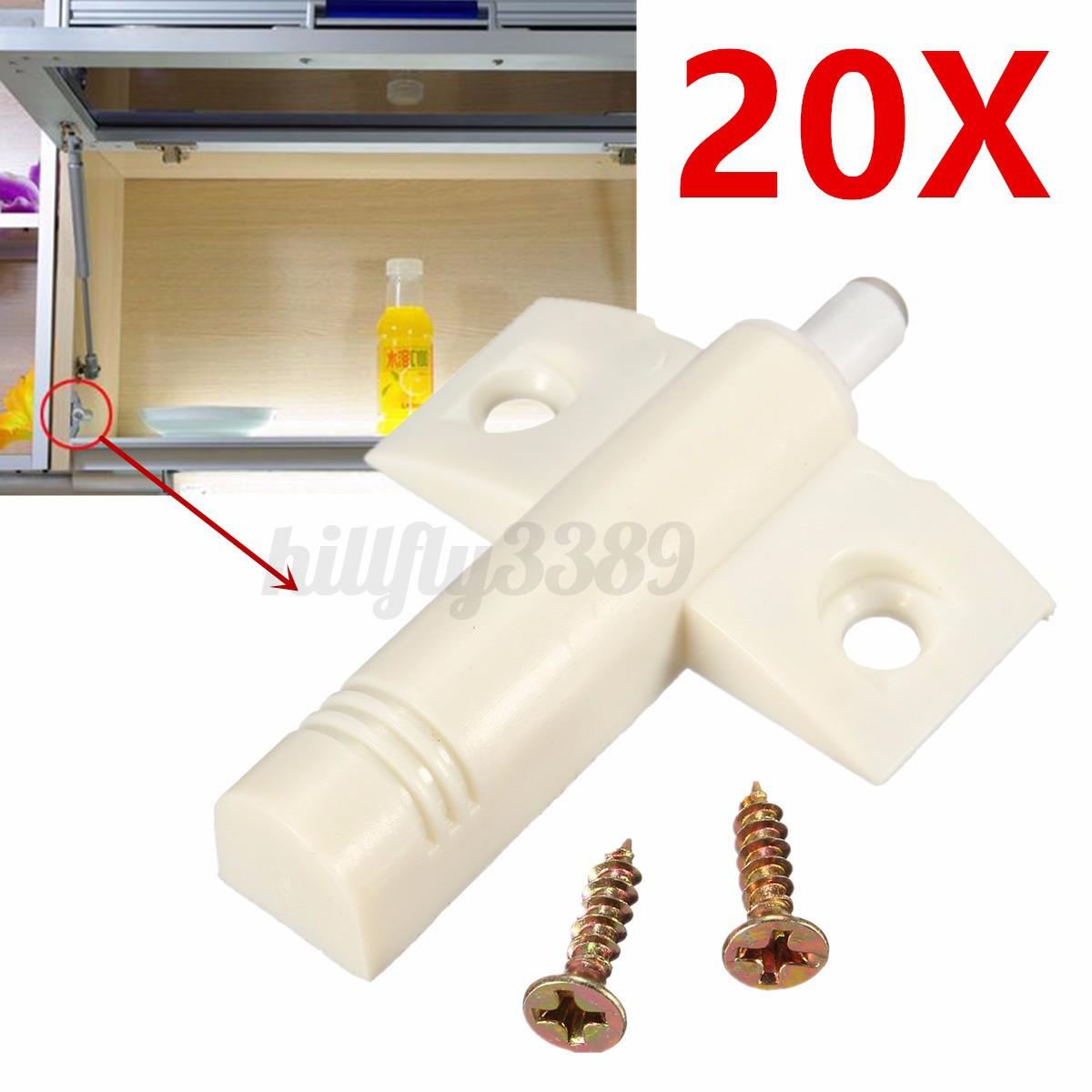 Cabinet Door Buffers 20pcs Kitchen Drawer Cabinet Door Quiet Soft Close Closer Damper