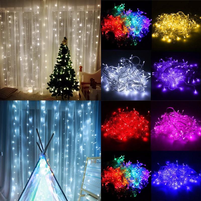 led lichtervorhang lichterkette weihnachtsbeleuchtung. Black Bedroom Furniture Sets. Home Design Ideas
