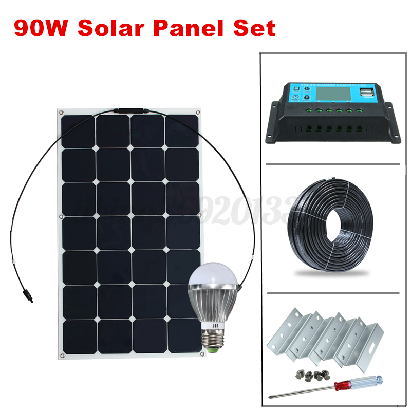 90w 12v solarmodul solarpanel monokristallin semi. Black Bedroom Furniture Sets. Home Design Ideas