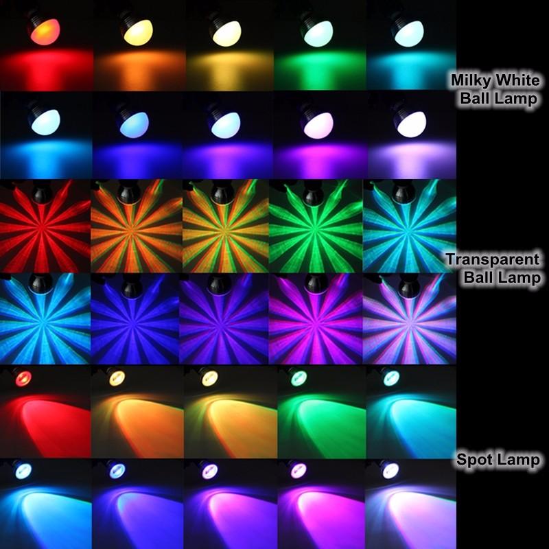 5W-9W-E27-B22-GU10-E14-RGB-Dimmable-LED-Couleur-Changement-Lampe-Ampoule-Remote