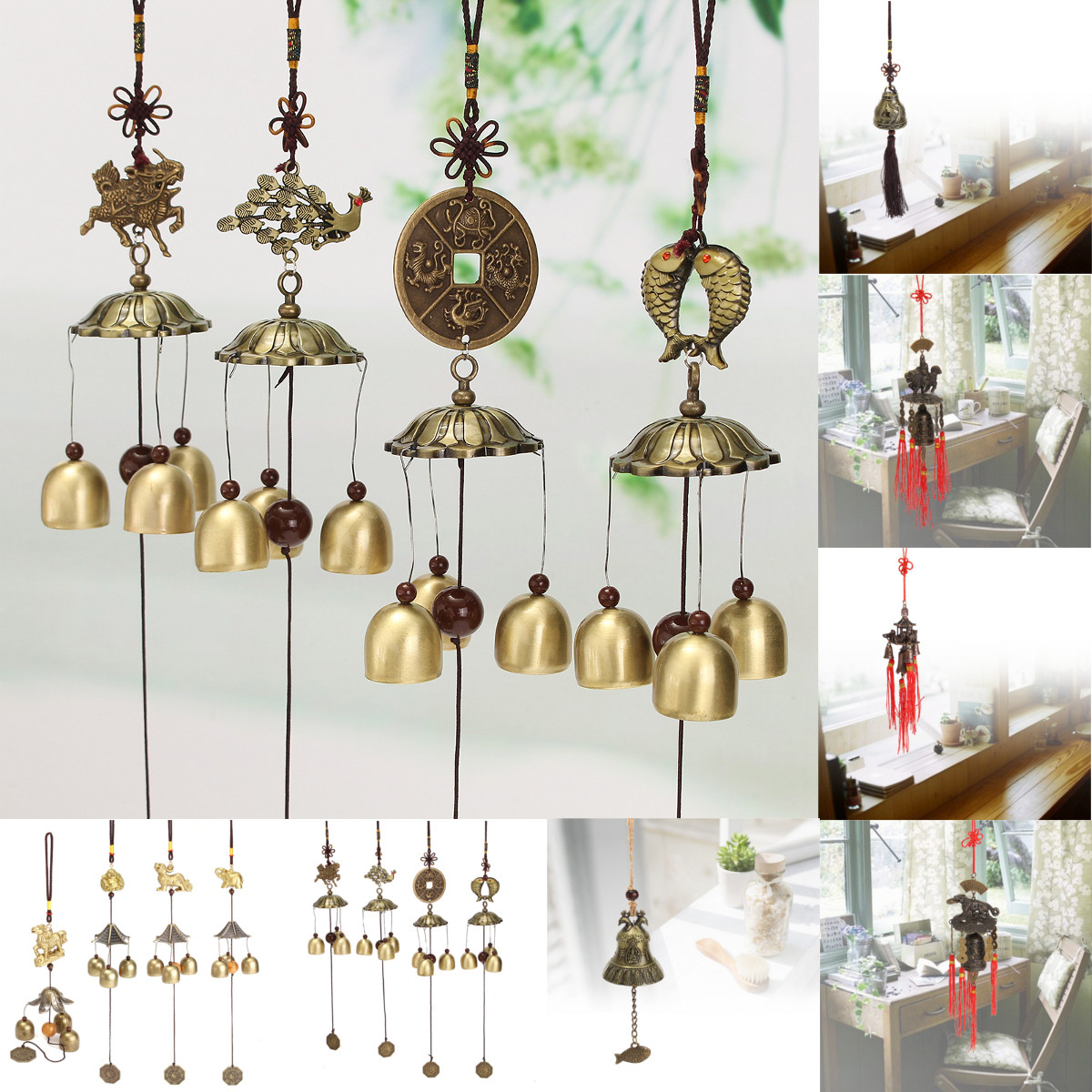 feng shui bell wind chime chinese lucky fortune car. Black Bedroom Furniture Sets. Home Design Ideas