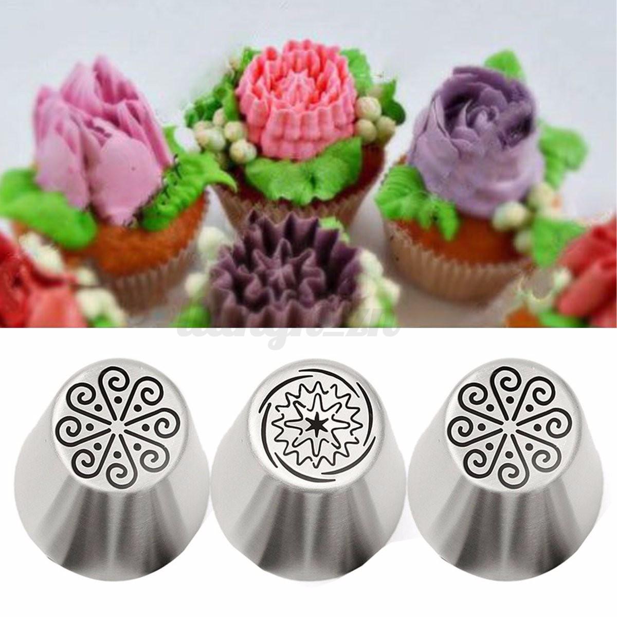 douille g teau patisserie glace cr me fleur russe tulipe tuyauterie nozzle buse ebay. Black Bedroom Furniture Sets. Home Design Ideas