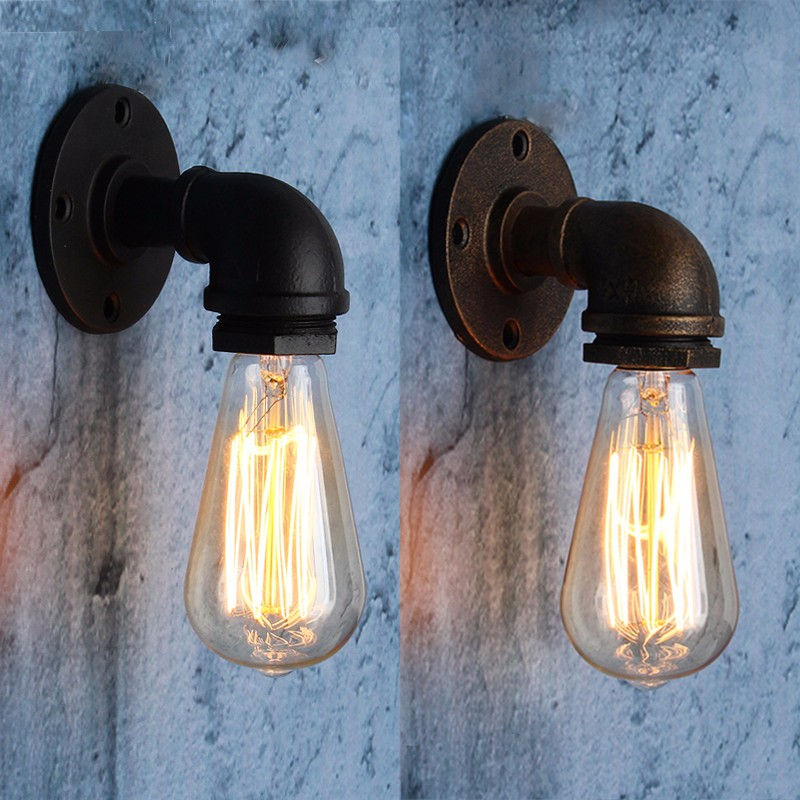 E27 vintage industrial loft rustic wall sconce wall light fitting e27 vintage industrial loft rustic wall sconce wall aloadofball Gallery