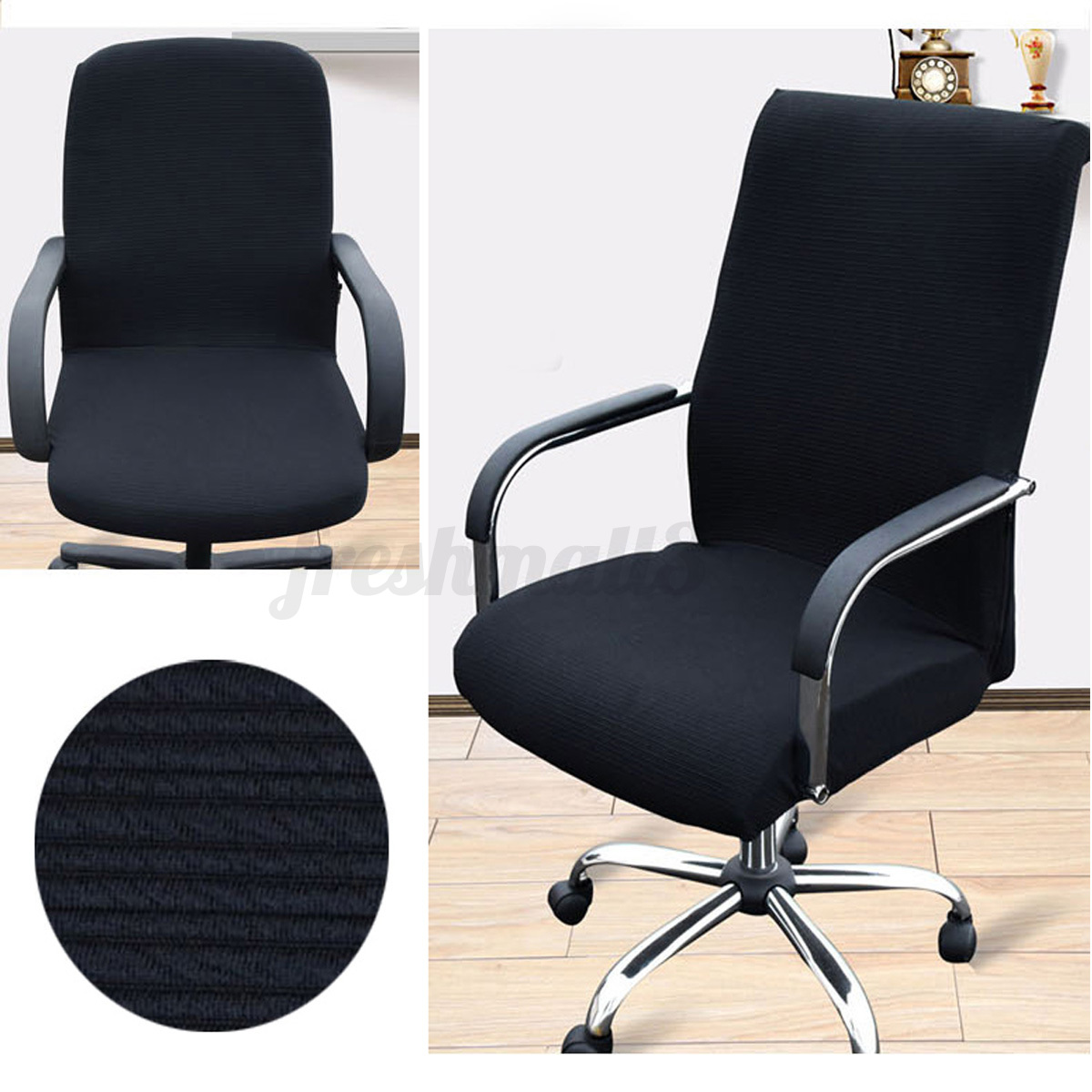 chair slip cover stretch office armchair seat protective. Black Bedroom Furniture Sets. Home Design Ideas