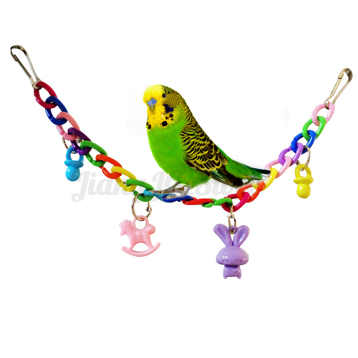 Pet Bird Toys : Pet bird parrot rope swing harness hammock bed hanging