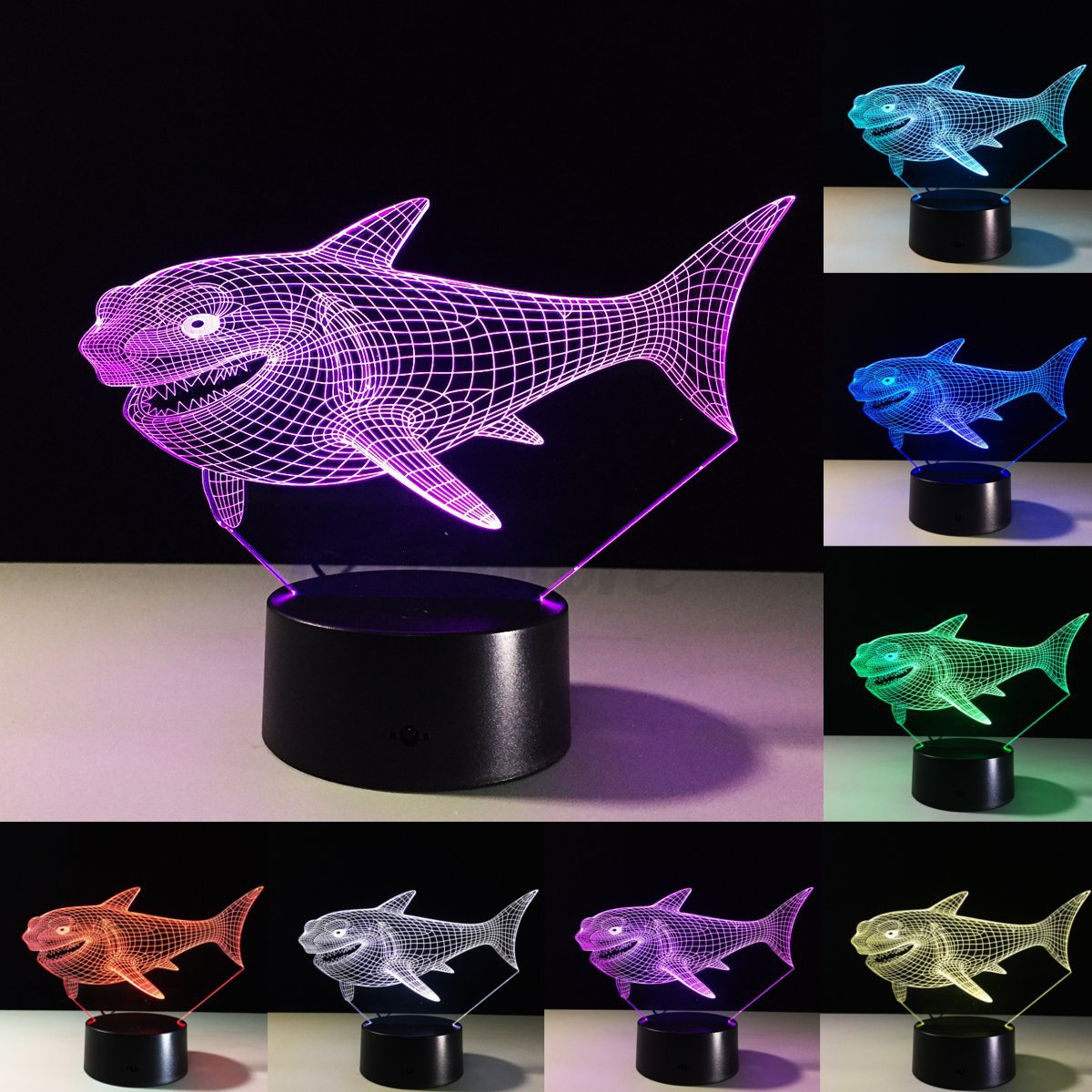 3D Illuminated Night Illusion Lights 7 Color Change LED ...