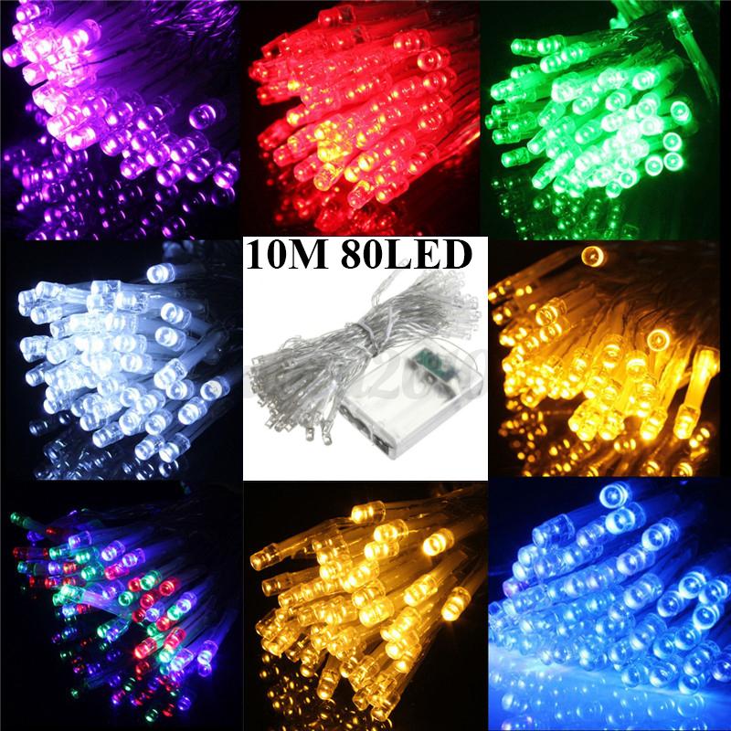 Solar String Lights Battery : 1-22M LED Battery/Solar Fairy String Light Outdoor Wedding Xmas Room Party Lamp eBay