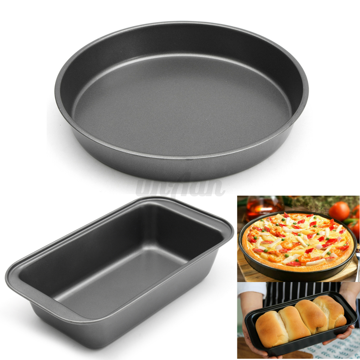 Non Stick Round Bread Pastry Cake Loaf Tin Baking Pan