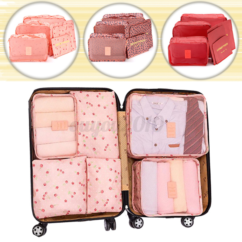 6pcs tanche sac de rangement poche organisateur voyage v tement valise bagage eur 3 49. Black Bedroom Furniture Sets. Home Design Ideas