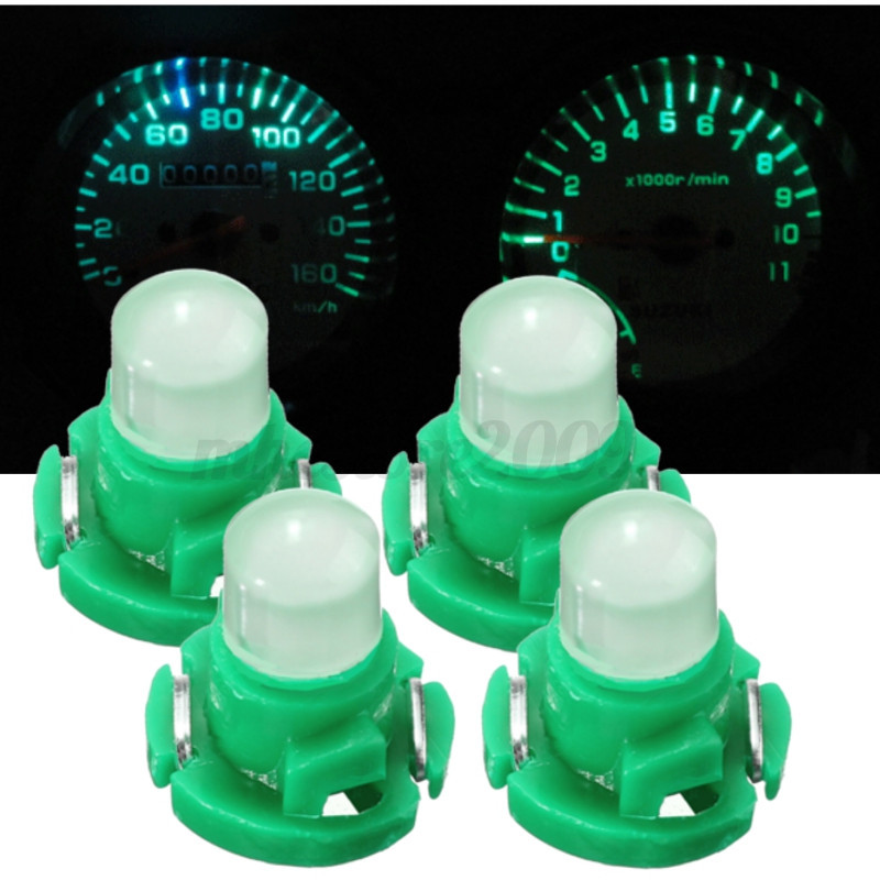 4x-T4-Neo-Wedge-Climate-Base-LED-Cluster-Instrument-Dash-Bulb-Light-Lamp-Green