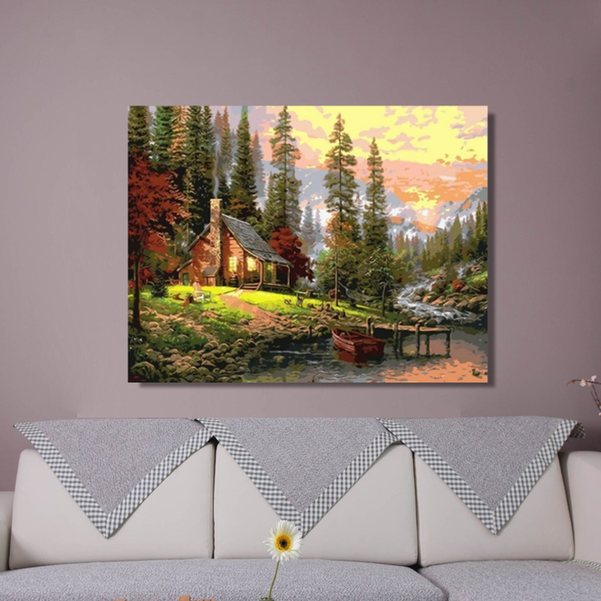 20x16 39 39 diy digital oil painting kit paint by numbers for Art painting for home decoration