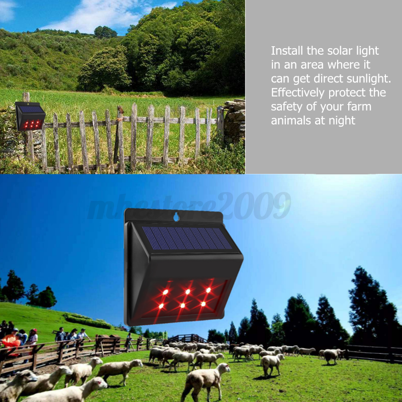 outdoor led bulbs solar powered predator deterrent led light sensor animal 29326