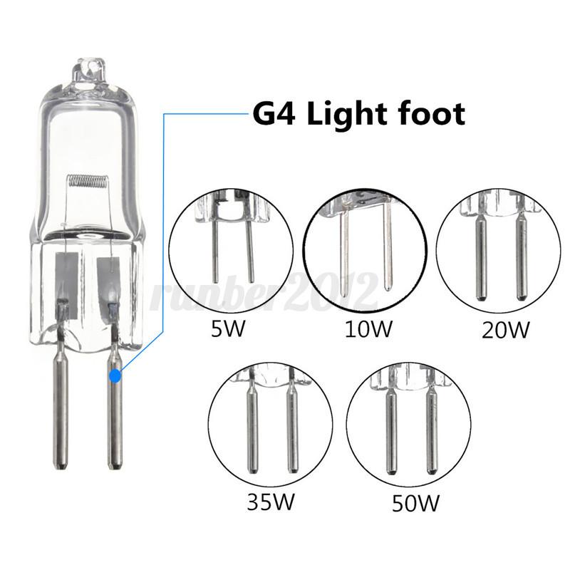 G4 G5 3 5w 10w 20w 35w 50w Halogen Light Lamp Replacement