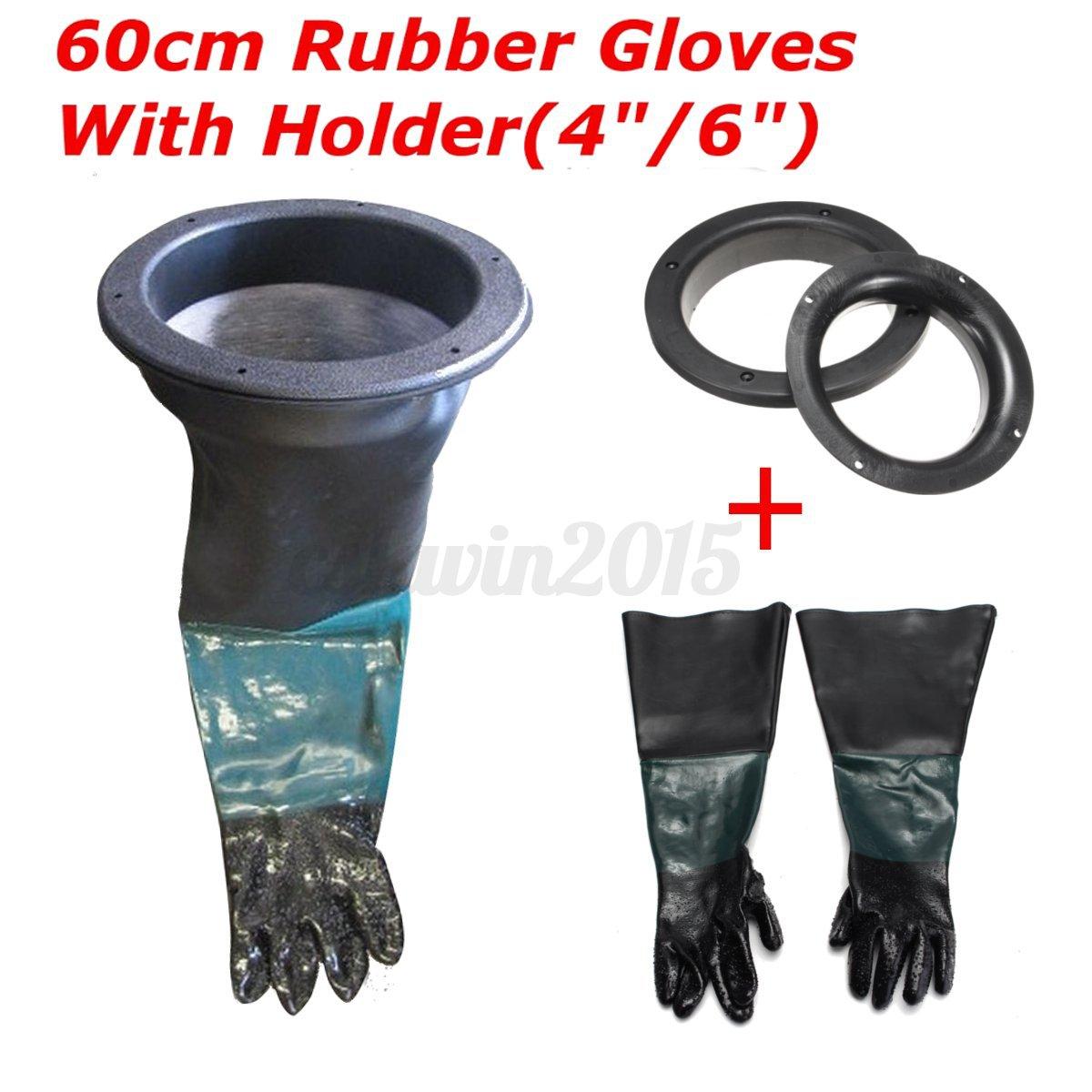 Pair Of Sandblasting Gloves Amp 2pcs Glove Holder For 8