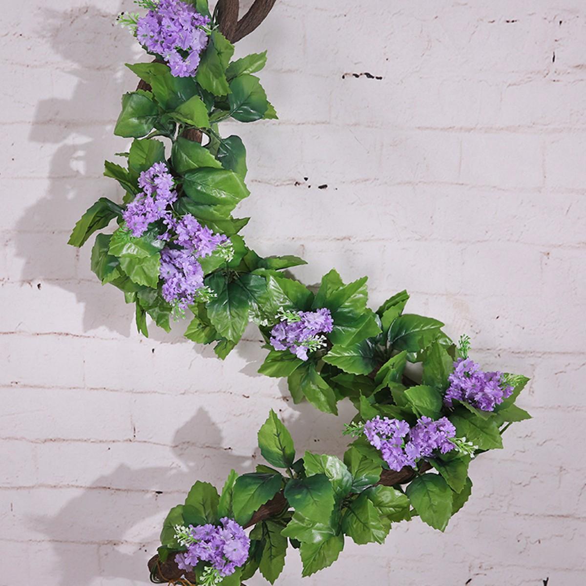 artificial fake silk flower garland artificial vine ivy home wedding garden deco ebay. Black Bedroom Furniture Sets. Home Design Ideas