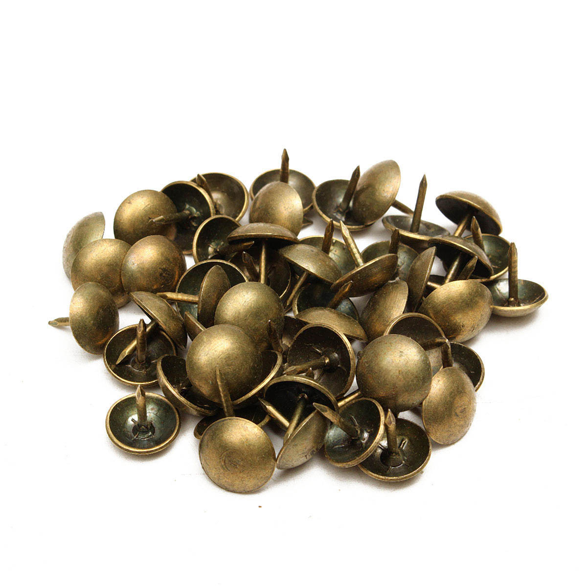 50 100pcs Antique Upholstery Tacks Brass Nails Furniture