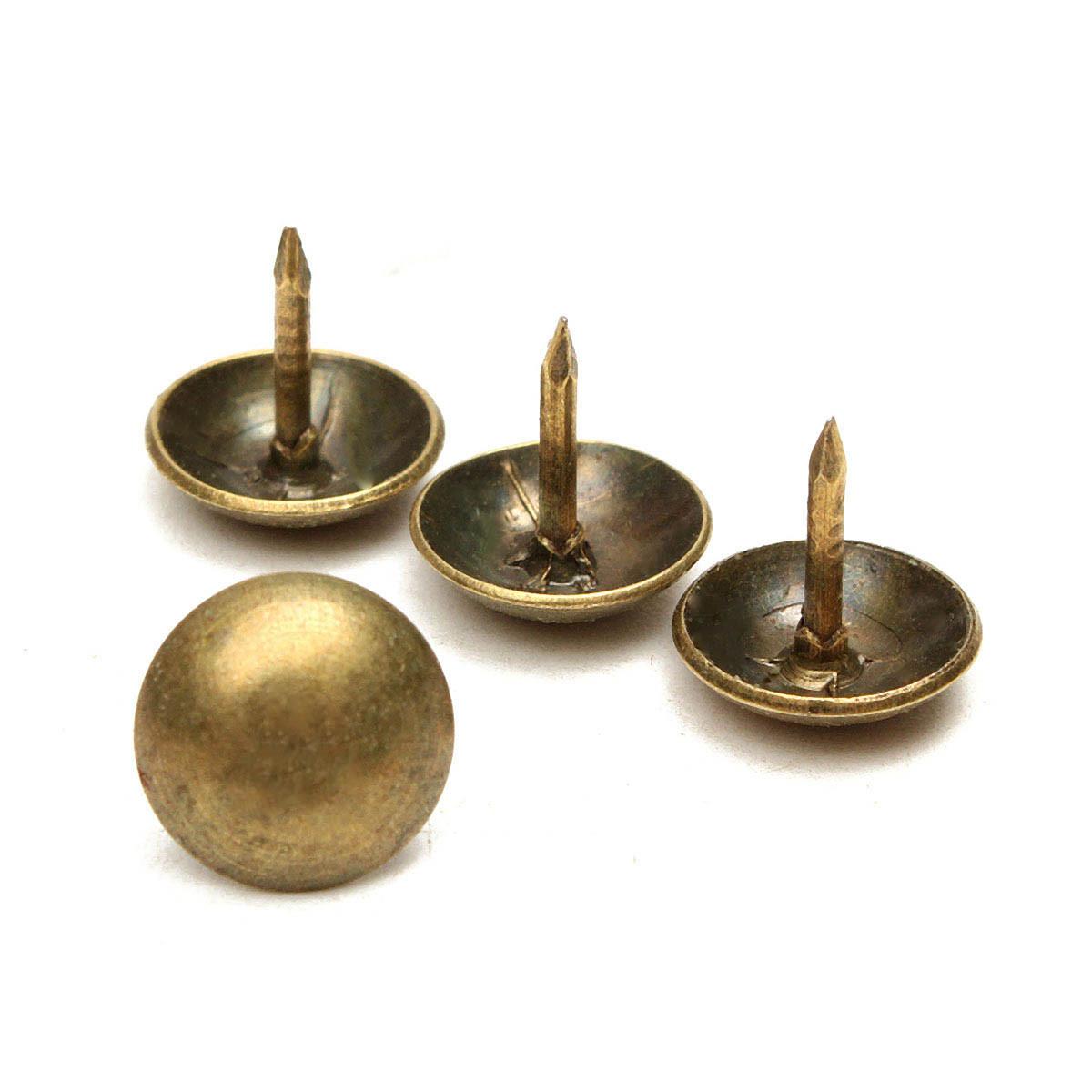 50 100pcs Antique Upholstery Tacks Brass Nails Furniture
