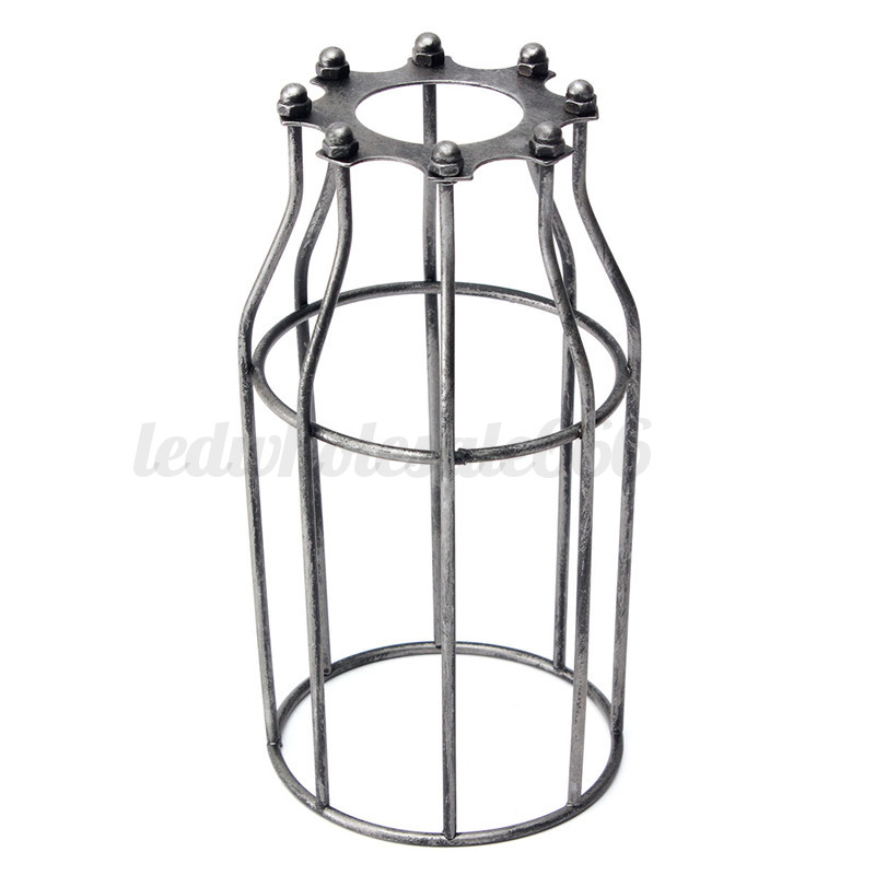 Ceiling Light Bulb Guard : Vintage metal light cage ceiling trouble bulb guard
