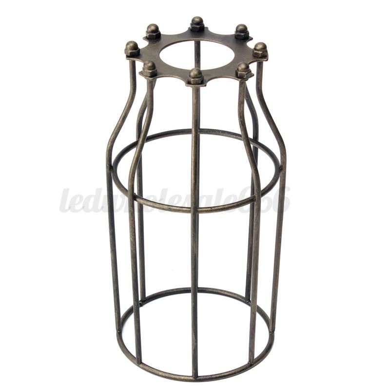 Ceiling Light Bulb Guard : Vintage metal light cage ceiling trouble bulb guard
