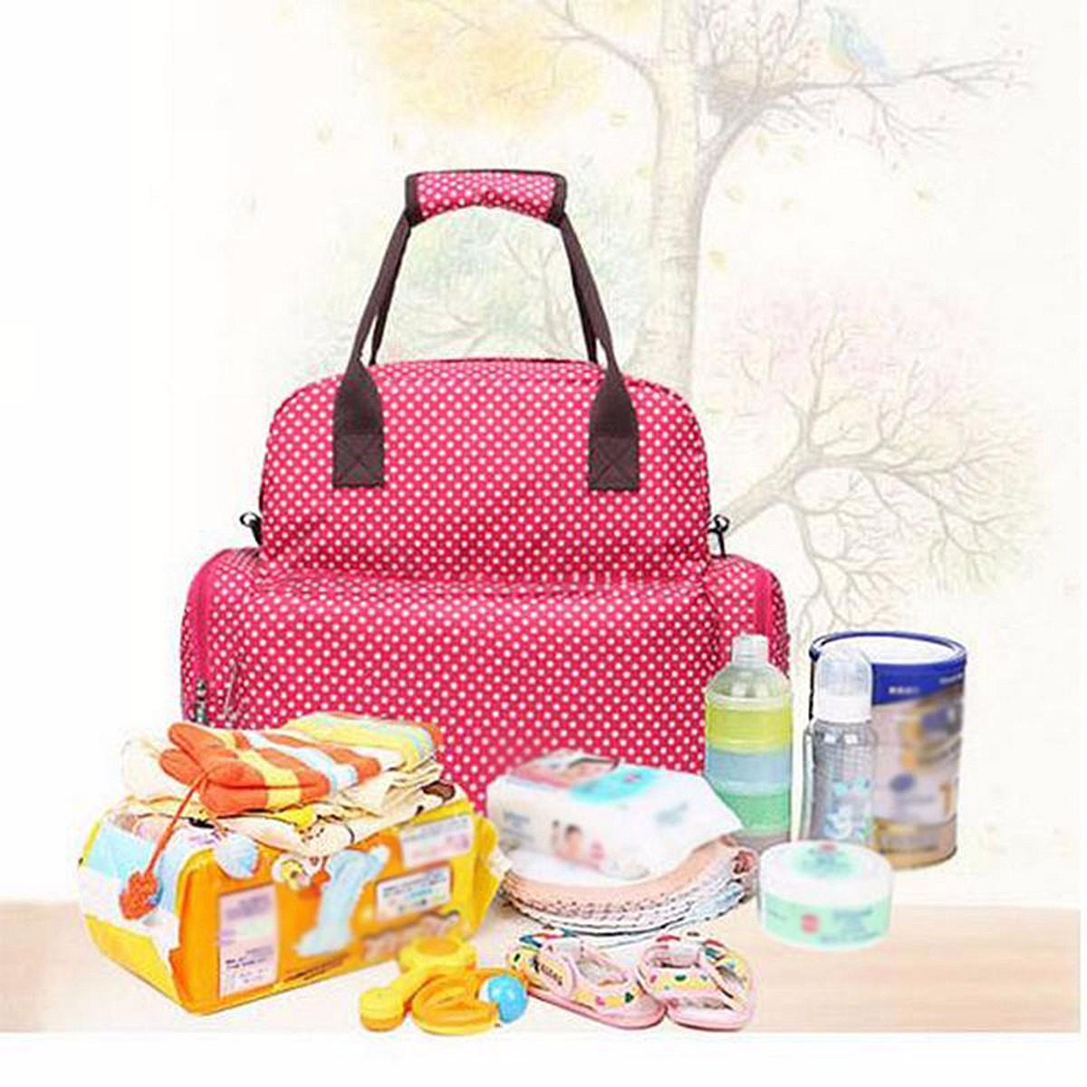 large baby diaper nappy backpack changing bag mummy shoulder bag tote handbag ebay. Black Bedroom Furniture Sets. Home Design Ideas