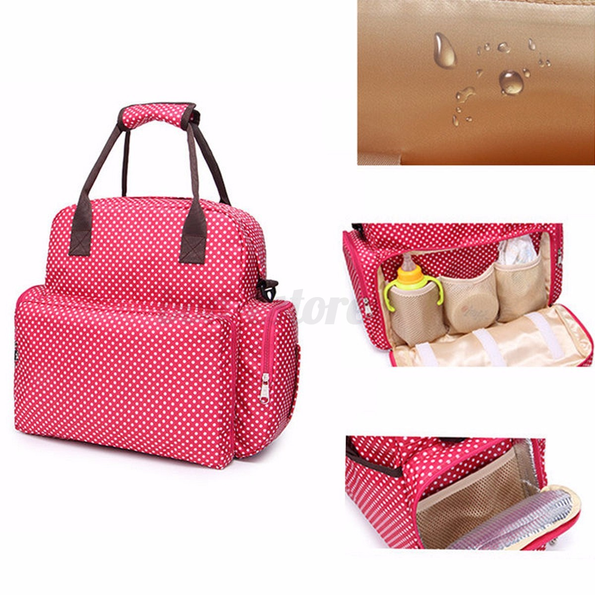 large baby diaper nappy backpack changing bag mummy shoulder bag tote handbag ebay. Black Bedroom Furniture Sets. Home Design Ideas