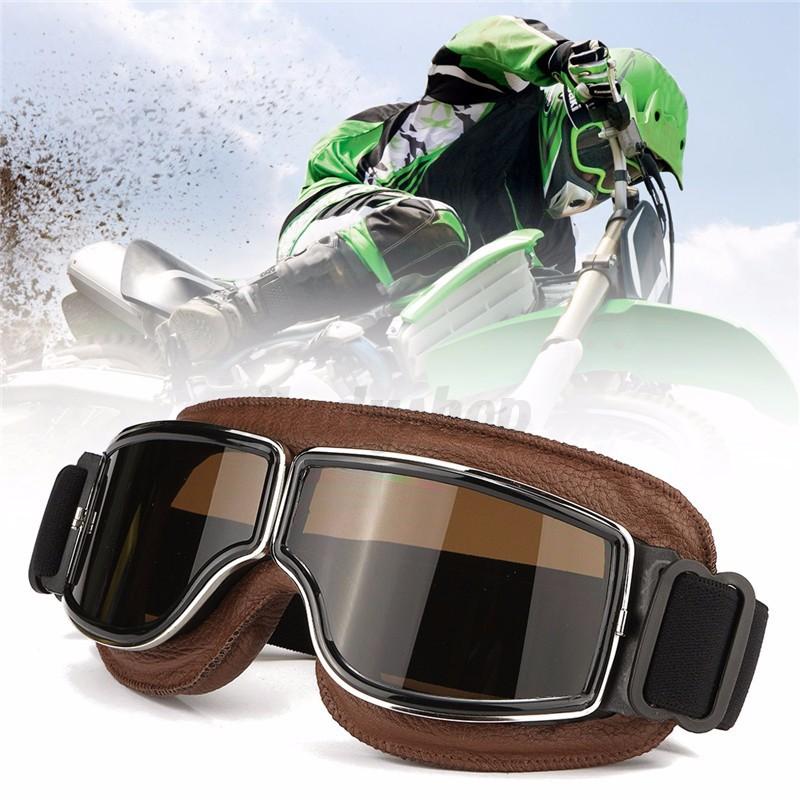 vintage motorradbrille schutzbrille pilot goggle helm. Black Bedroom Furniture Sets. Home Design Ideas