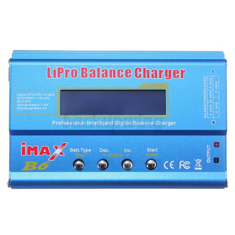 iMAX B6 AC Lipo/NiMH LCD RC Akku Batterie Digitale Balance Charger Ladegerät 80W 2