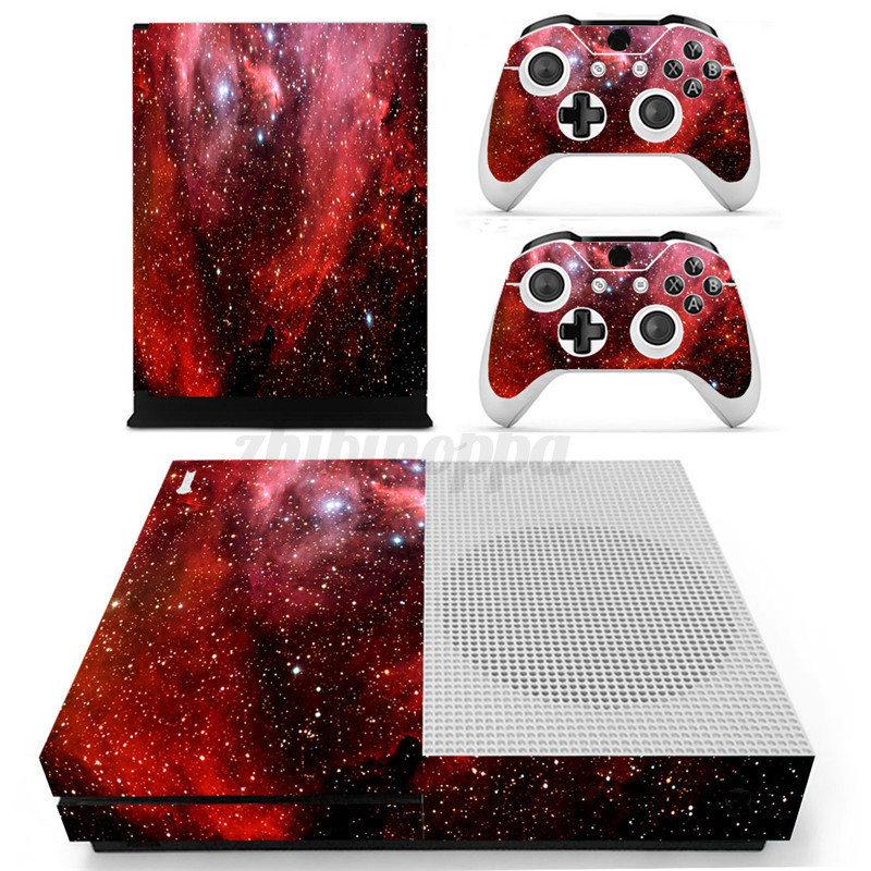 Star-series-Designer-Skin-Sticker-For-XBOX-ONE-S-Gaming-Console-2-Controller