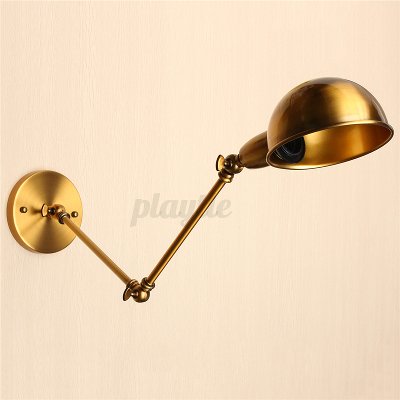 Wall Swing Lamps Fixture : Vintage Industrial Adjustable Swing Arm Light Sconce Wall Lamp Light Fixture E27 eBay