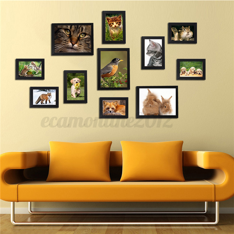 11 pcs cornice legno da appendere cornici colorate da - Cornici da parete per foto ...