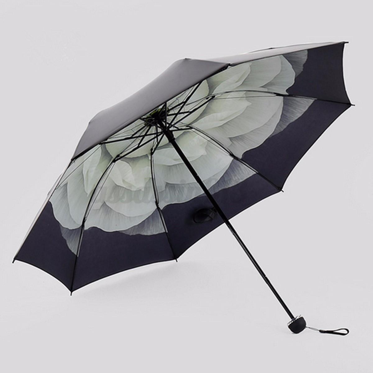 Folding Umbrella Compact Windproof Anti Uv Rain Sun