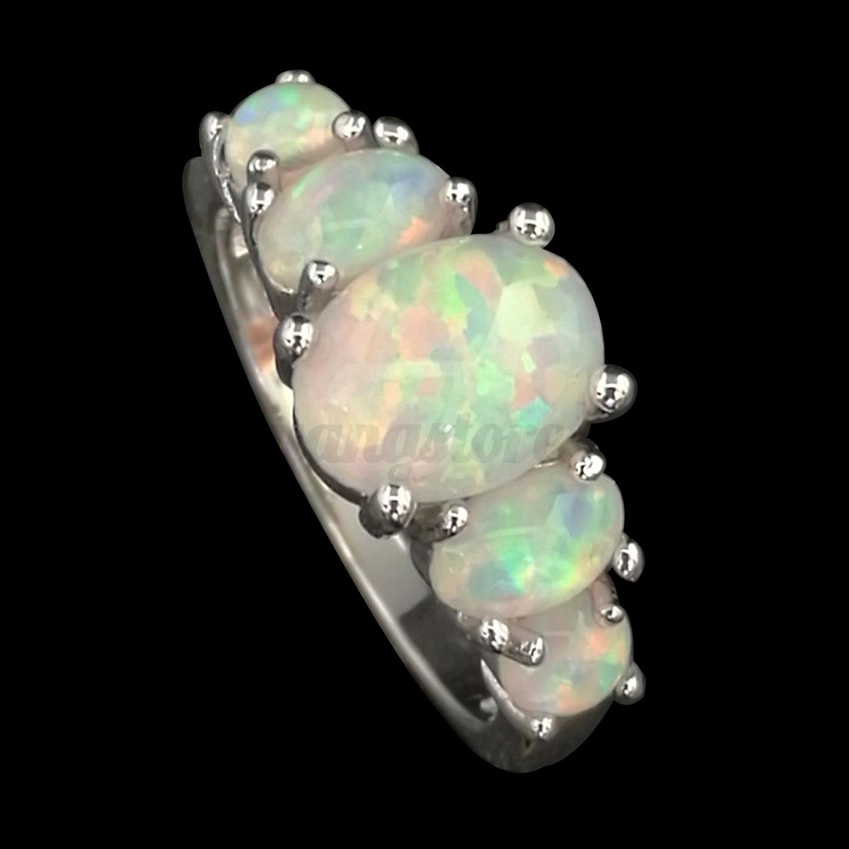 Australian Blue Opal Engagement Rings