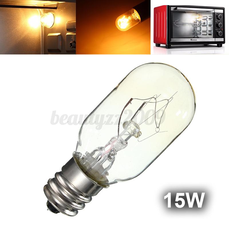 15W/25W 120V Incandescent Bulbs Salt lamp Bulbs E12 Socket Glass Oven Lamp eBay