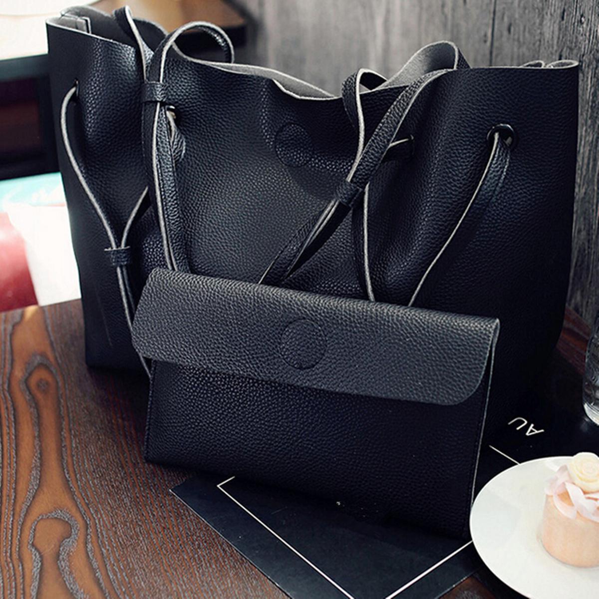 2Pcs-Women-Ladies-Leather-Shoulder-Messenge-Bag-Tote-Purse-Handbag-Crossbody-AU
