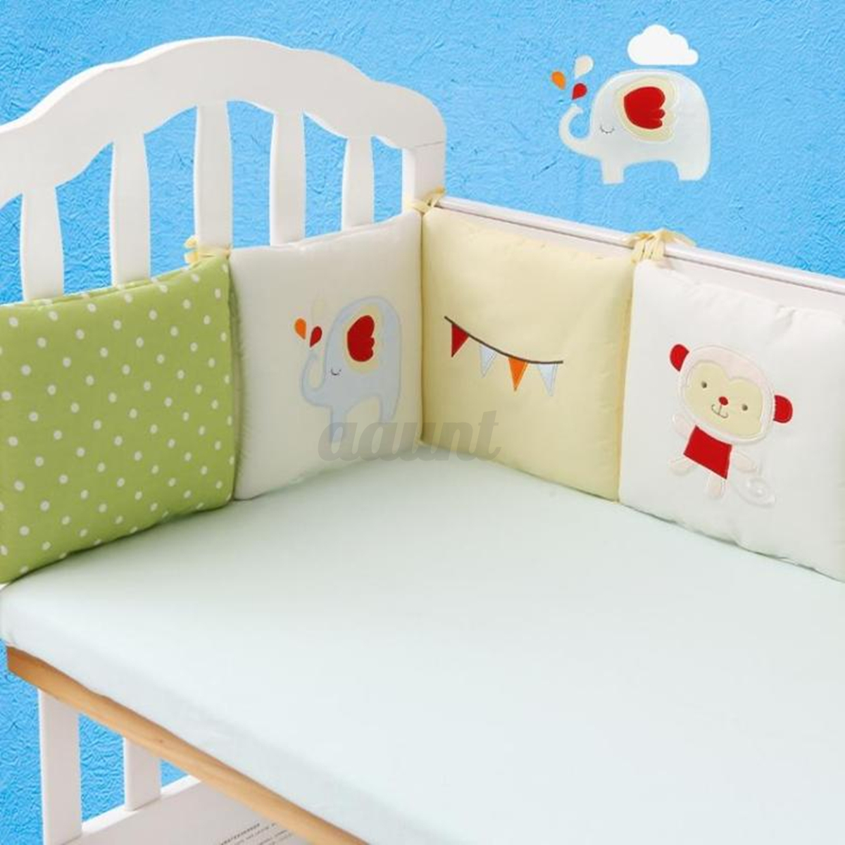 4/6Pcs Baby Infant Cot Crib Bumper Safety Protector