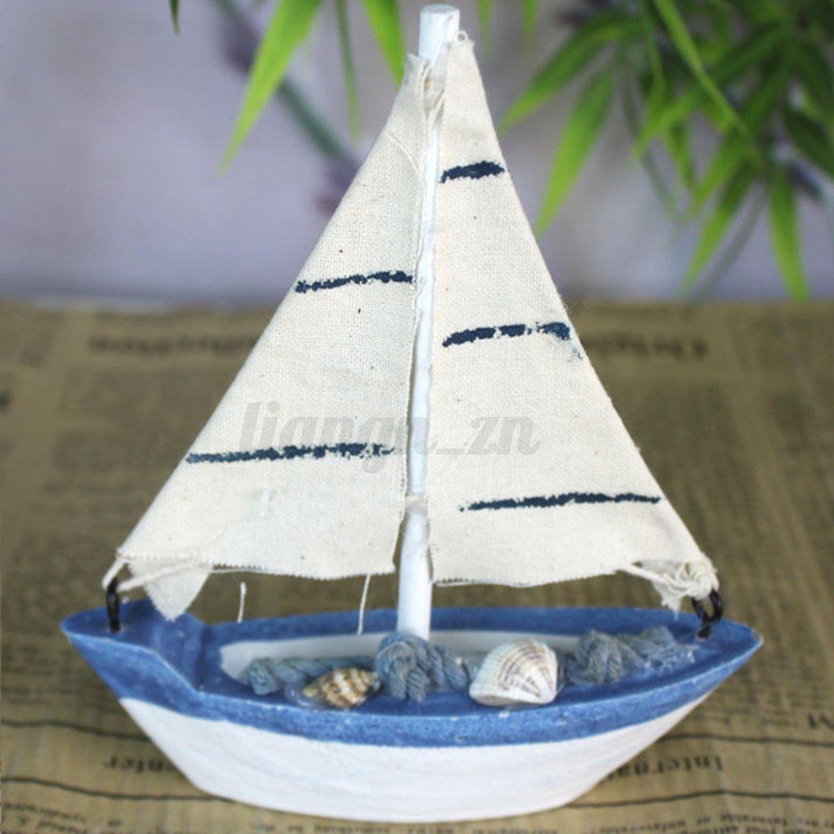 m diterran e nautique maquette de voilier navire bateau voile bois d coration ebay. Black Bedroom Furniture Sets. Home Design Ideas