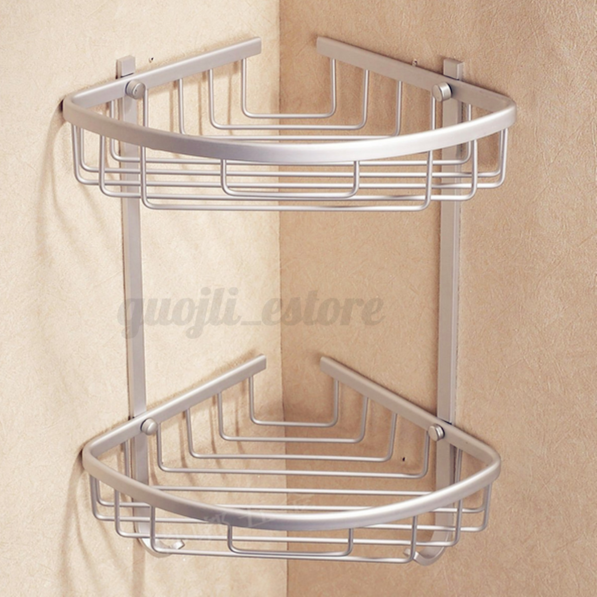 3 layer triangular shower bathroom corner bath rack wall - Bathroom storage baskets shelves ...