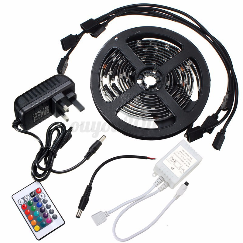 4x50cm 5050 rgb leds lichtleiste strip aquarium lampe tv hintergrund beleuchtung ebay. Black Bedroom Furniture Sets. Home Design Ideas
