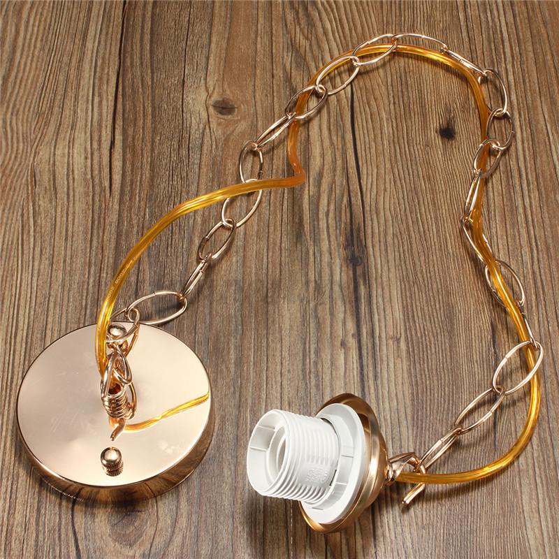 E27/E26 Ceiling Rose Chain Pendant Chandelier Light Holder