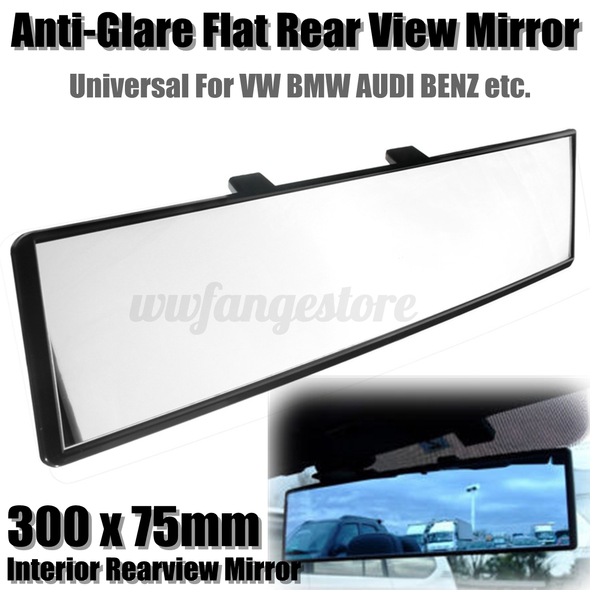 Interior Extension Convex Panoramic Car Rear View Mirror Quick Fit For Bmw