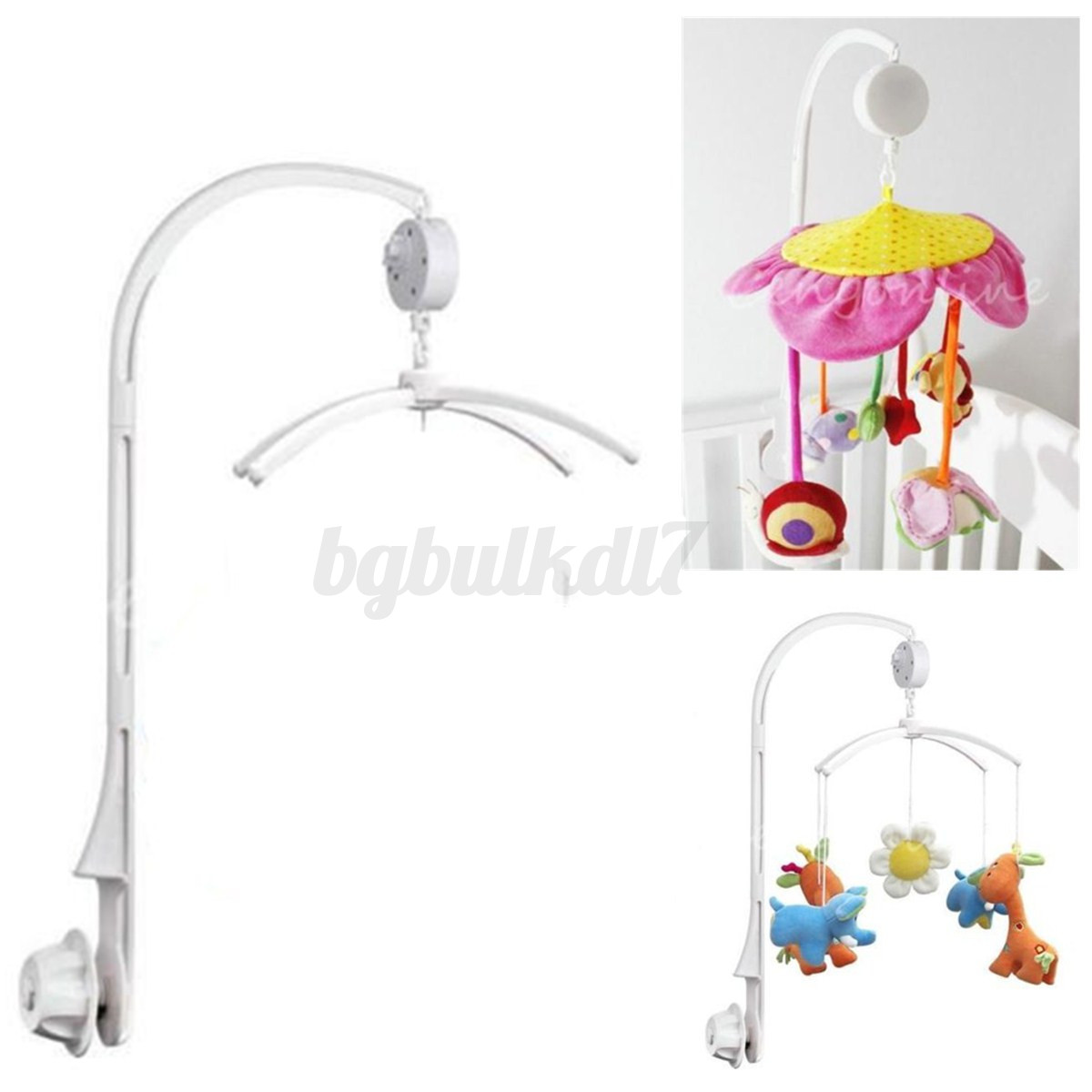 XuBa Baby Infant Rotary Mobile Crib Bed Clockwork Movement Music Box Kids Develop Toy