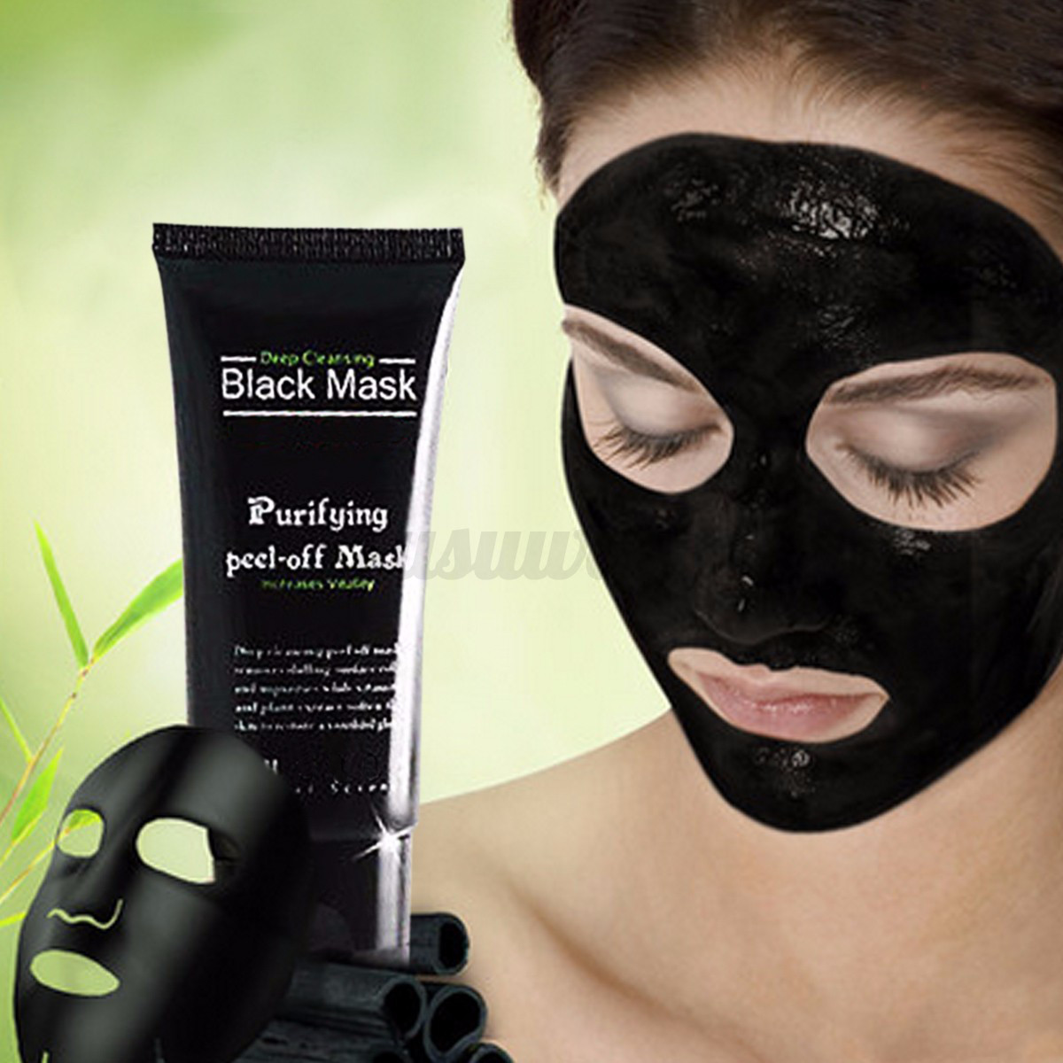 charbon masque boue anti acn point noir black mask peau soin nez visage brosse ebay. Black Bedroom Furniture Sets. Home Design Ideas