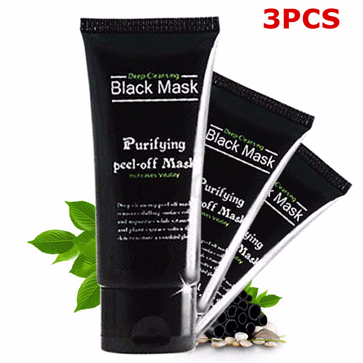 masque charbon anti acn point noir boue black mask nettoyage nez visage brosse ebay. Black Bedroom Furniture Sets. Home Design Ideas